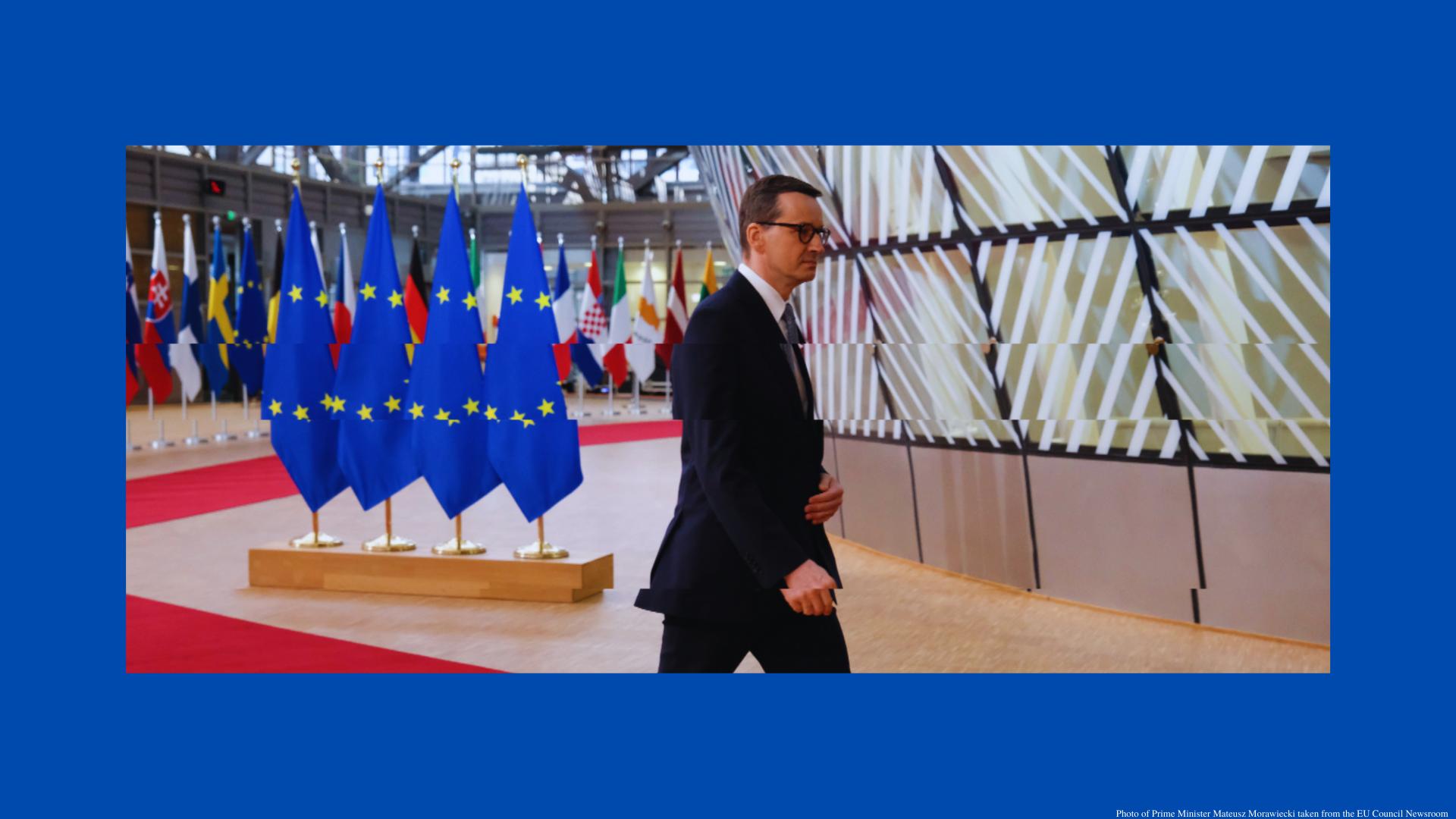 Photo of Prime Minister Mateusz Morawiecki taken from the EU Council Newsroom