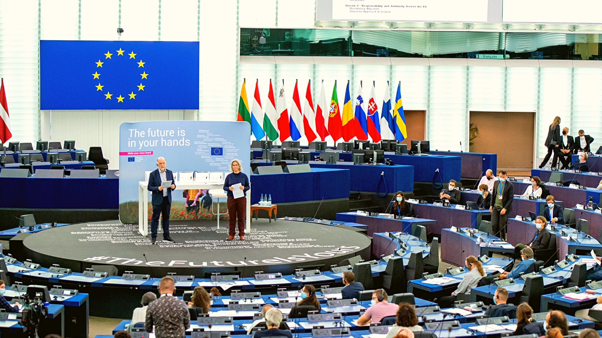Picture of the Confrence on Europe from the European Parlament