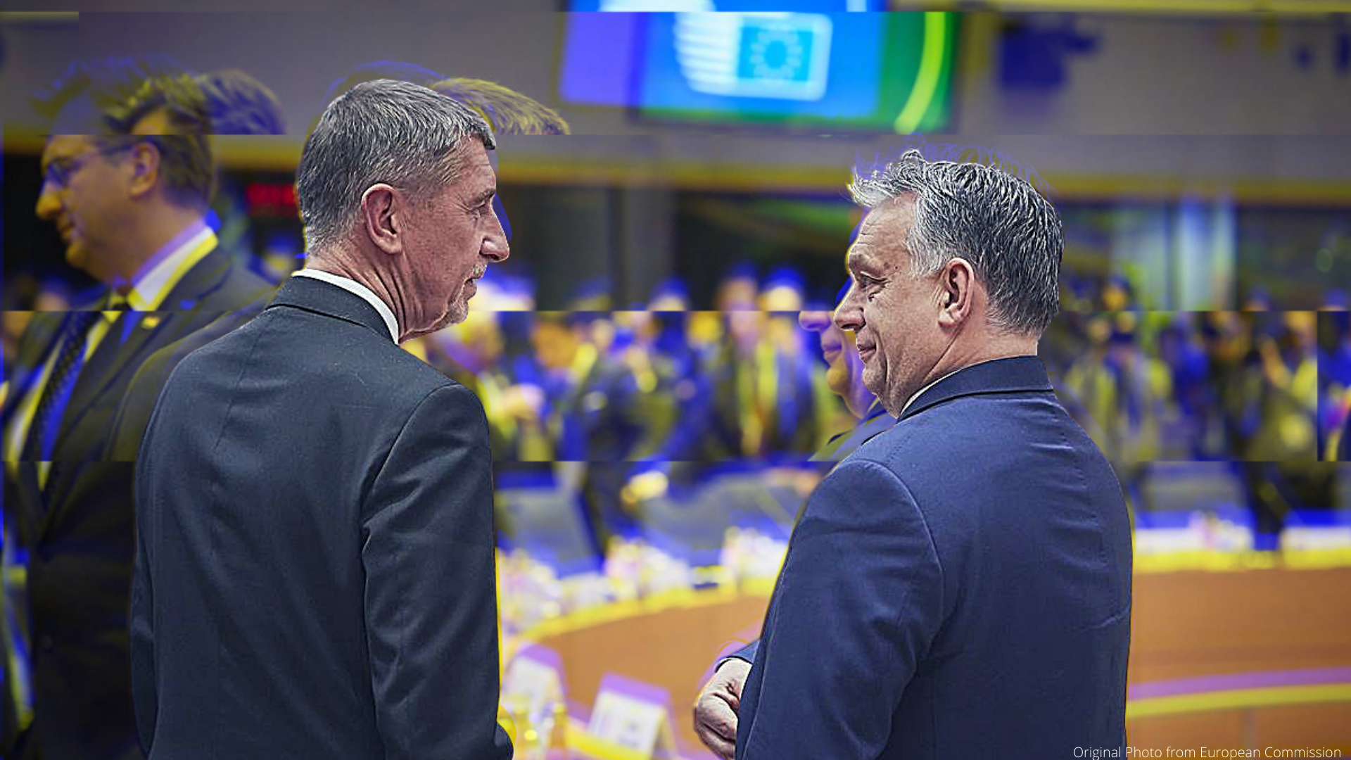 Photo of Babiš and Orban from EC