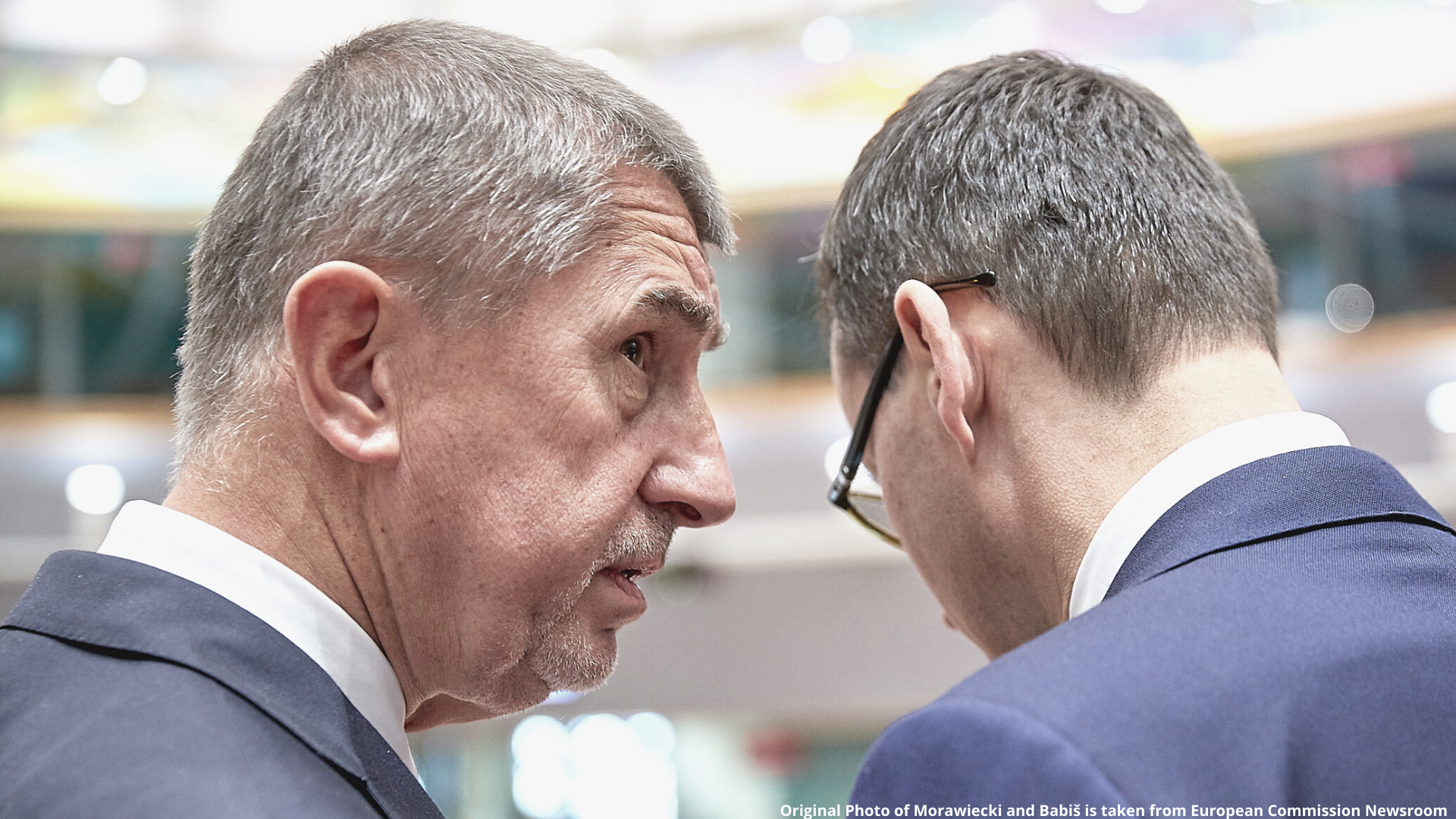 Original Photo of Morawiecki and Babiš is taken from European Commission Newsroom